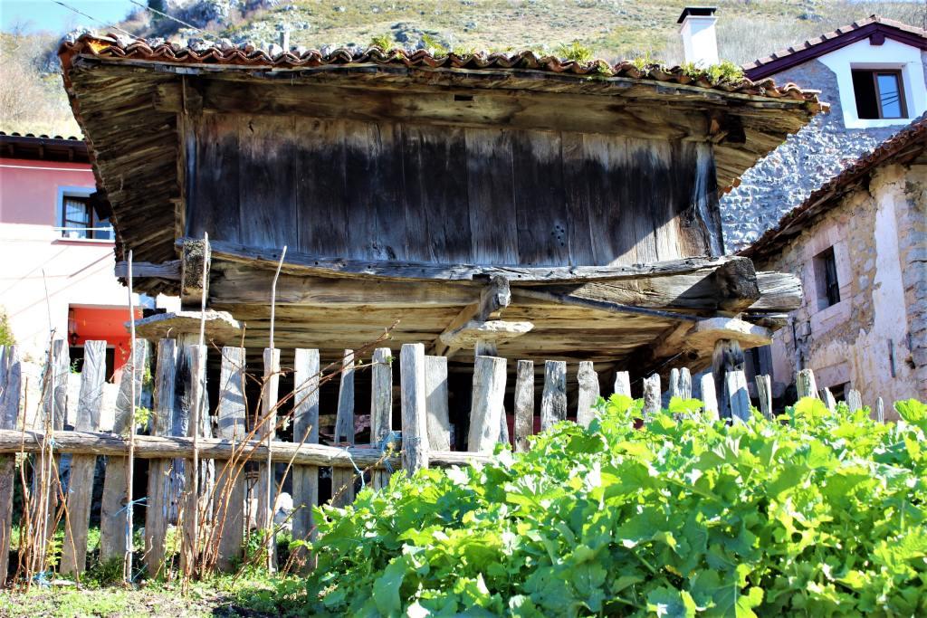 Horreo en el pueblo de Carbes, cultura y tradición de Asturias en Los Picos de Europa.