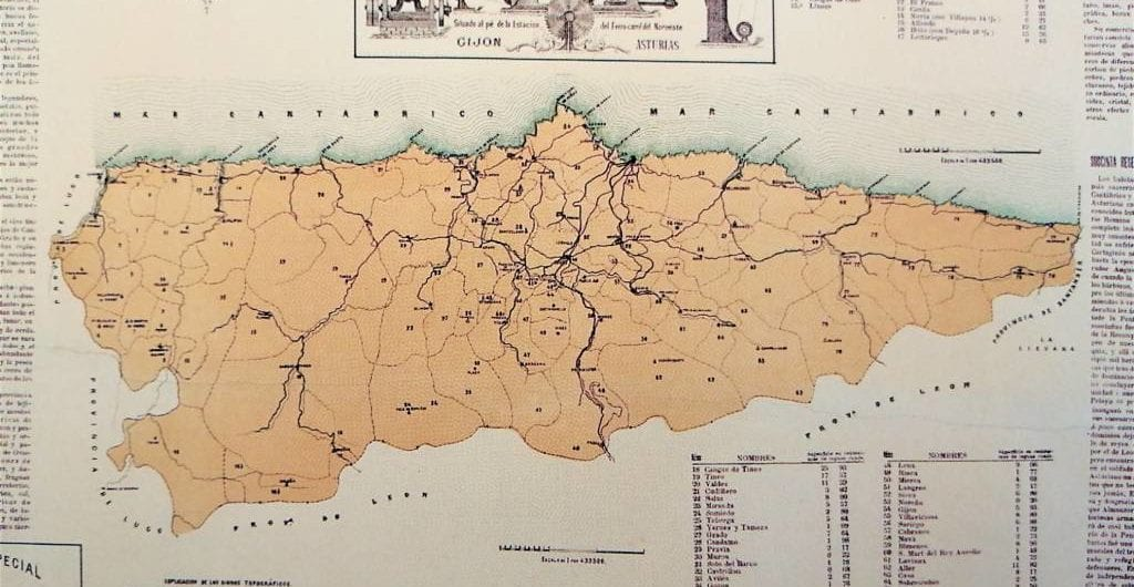 Mapa de Asturias 1883