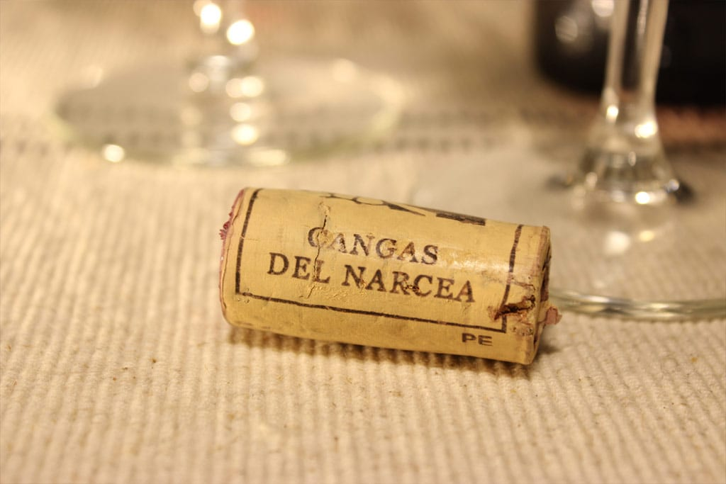 Detalle de corcho de Vino IGP Cangas de Narcea