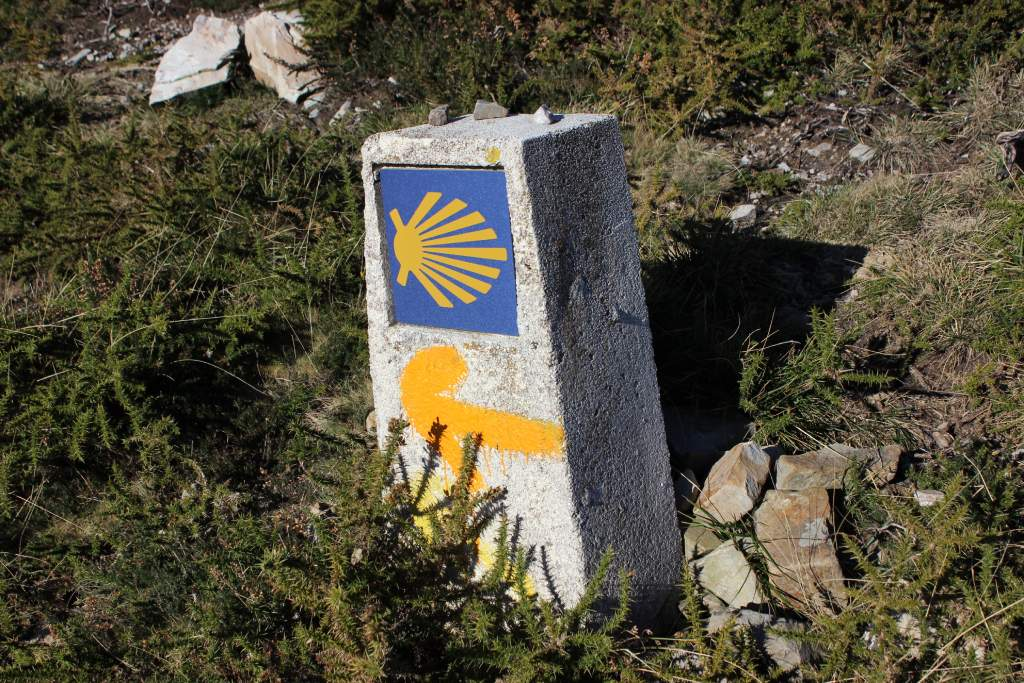 Concha del peregrino en Asturias