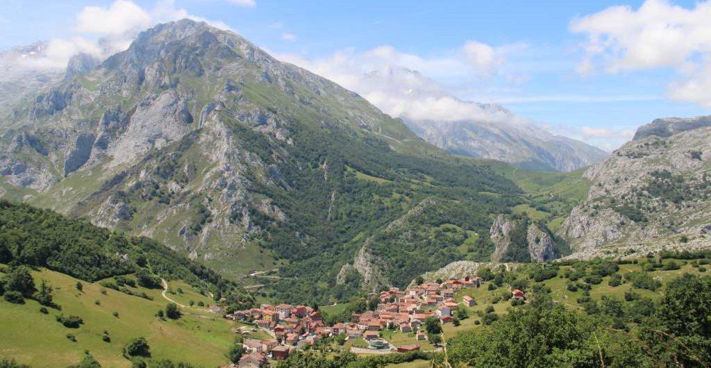 Pueblo de Sotres, en Cabrales, Asturias