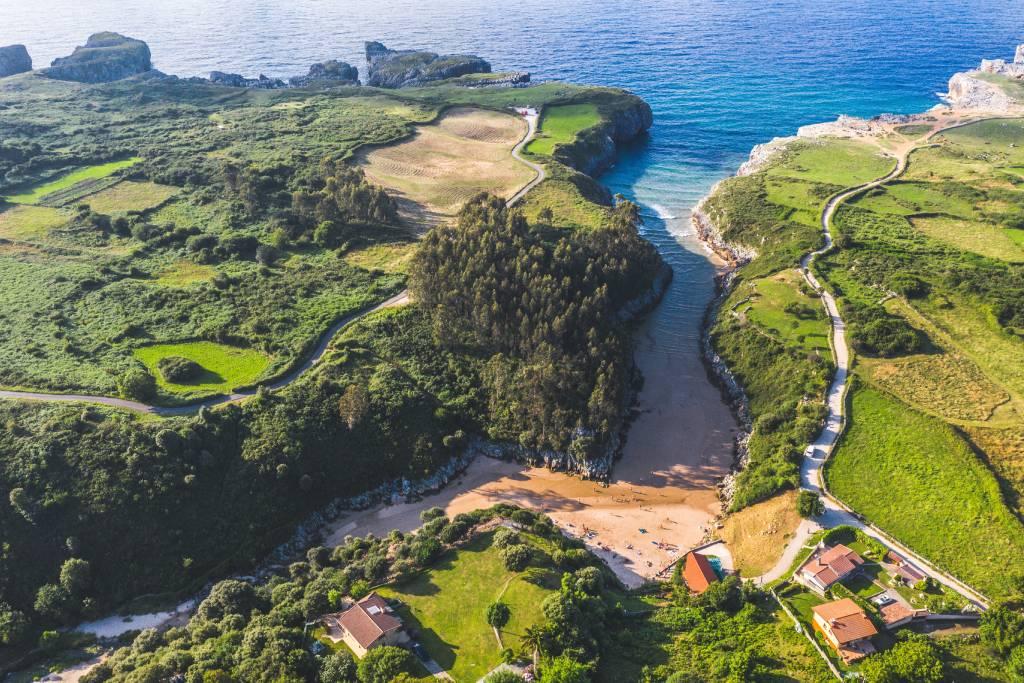 Playa de Guadamía en Asturias