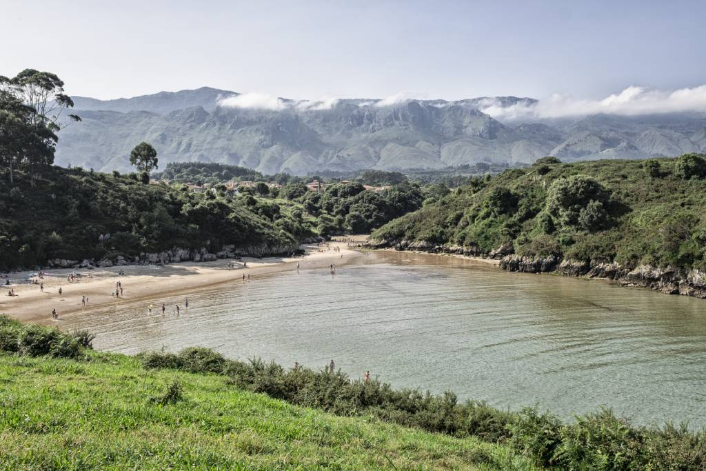 Playa de Poo en Llanes